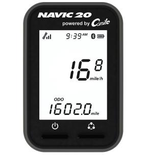 Produktbild des CicloSport Navic 20. Auf dem Display werden die Geschwindigkeit, die Strecke und die Uhrzeit angezeigt.