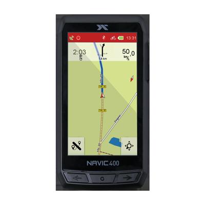 Screenshot des CicloSport Navic 400 während der Outdoor-Navigation in ländlicher Gegend