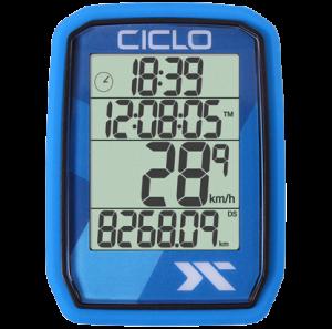 Produktbild des CicloSport Protos 205, Protos 105. Fahrradcomputer in Blau