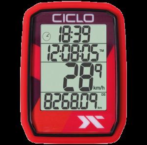 Produktbild des CicloSport Protos 205, Protos 105. Fahrradcomputer in Rot