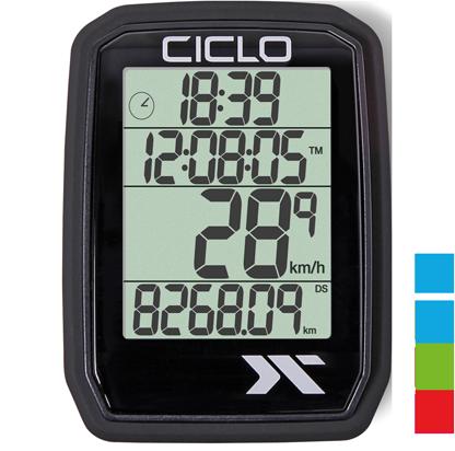 Produktbild des CicloSport Protos 205, Protos 105. Fahrradcomputer in Schwarz