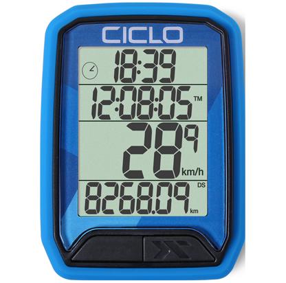 Produktbild des CicloSport Protos 213, Protos 113. Fahrradcomputer in Blau