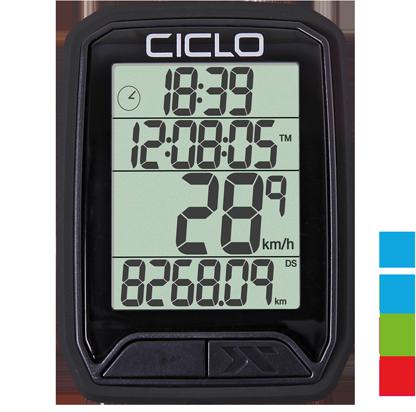 Produktbild des CicloSport Protos 213, Protos 113. Fahrradcomputer in Schwarz